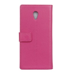 Protection Etui Portefeuille Cuir Rose Wiko Robby