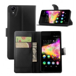 Wiko Rainbow Jam 4G Black Wallet Case