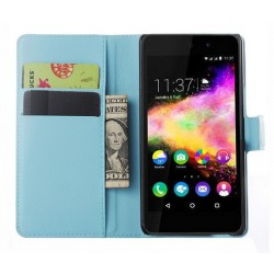 Wiko Rainbow Jam 4G Blue Wallet Case