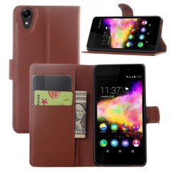 Wiko Rainbow Jam 4G Brown Wallet Case
