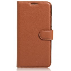 Protection Etui Portefeuille Cuir Marron Wiko Lenny 3