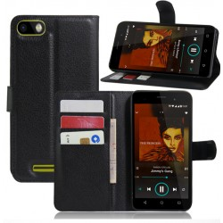 Wiko Lenny 2 Black Wallet Case