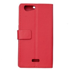 Wiko Jerry Red Wallet Case