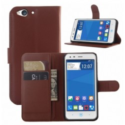 Protection Etui Portefeuille Cuir Marron SFR Star Edition Starxtrem 4