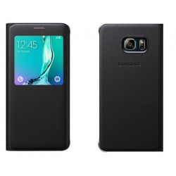 Black S-view Flip Case For Samsung A3 2016