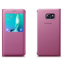 Pink S-view Flip Case For Samsung A3 2016
