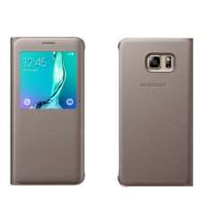 Etui Protection S-View Cover Or Pour Samsung A3 2016