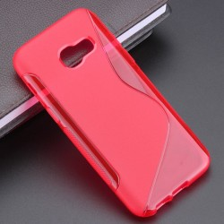 Red Silicone Protective Case Samsung Galaxy A3 (2017)