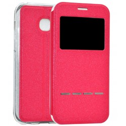 Etui Protection S-View Cover Rouge Pour Samsung Galaxy A3 (2017)