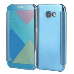 Etui Protection Led View Cover Bleu Pour Samsung Galaxy A3 (2017)