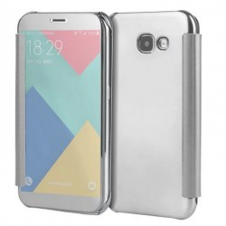 Etui Protection Led View Cover Argent Pour Samsung Galaxy A3 (2017)
