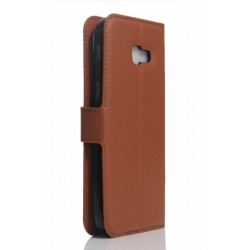 Protection Etui Portefeuille Cuir Marron Samsung Galaxy A3 (2017)