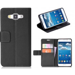 Samsung Galaxy A3 Black Wallet Case