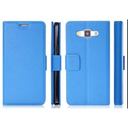 Samsung Galaxy A3 Blue Wallet Case