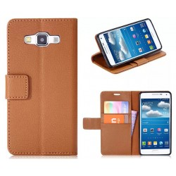 Protection Etui Portefeuille Cuir Marron Samsung Galaxy A3