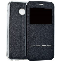 Black S-view Flip Case For Samsung Galaxy A5 (2017)