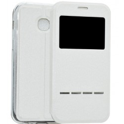 White S-view Flip Case For Samsung Galaxy A5 (2017)