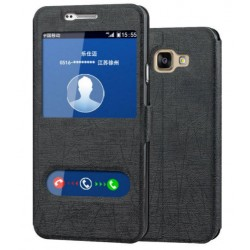 Etui Protection S-View Cover Noir Pour Samsung Galaxy A7 (2016)