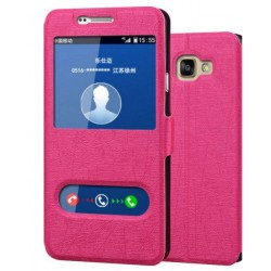 Etui Protection S-View Cover Rose Pour Samsung Galaxy A7 (2016)