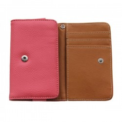 Etui Portefeuille En Cuir Rose Pour Wileyfox Swift 2