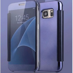 Etui Protection Led View Cover Bleu Pour Samsung Galaxy A7 (2016)