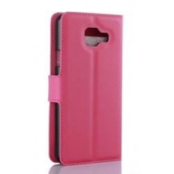 Protection Etui Portefeuille Cuir Rose Samsung Galaxy A7 (2016)