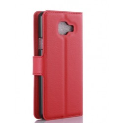 Protection Etui Portefeuille Cuir Rouge Samsung Galaxy A7 (2016)