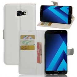 Protection Etui Portefeuille Cuir Blanc Samsung Galaxy A7 (2017)