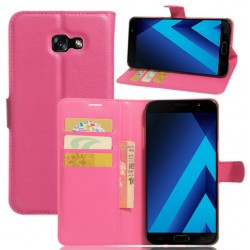 Protection Etui Portefeuille Cuir Rose Samsung Galaxy A7 (2017)