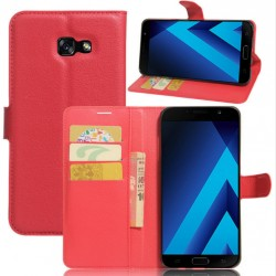 Protection Etui Portefeuille Cuir Rouge Samsung Galaxy A7 (2017)