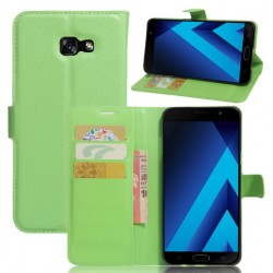 Samsung Galaxy A7 (2017) Green Wallet Case