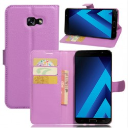 Protection Etui Portefeuille Cuir Violet Samsung Galaxy A7 (2017)