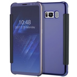 Etui Protection Led View Cover Bleu Pour Samsung Galaxy S8