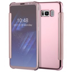 Etui Protection Led View Cover Rose Pour Samsung Galaxy S8