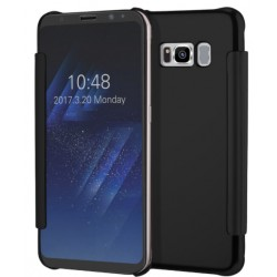 Etui Protection Led View Cover Noir Pour Samsung Galaxy S8 Plus
