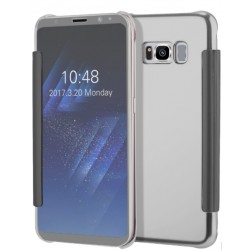 Etui Protection Led View Cover Argent Pour Samsung Galaxy S8 Plus