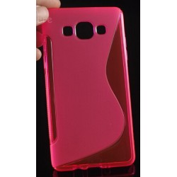 Pink Silicone Protective Case Samsung Galaxy A7