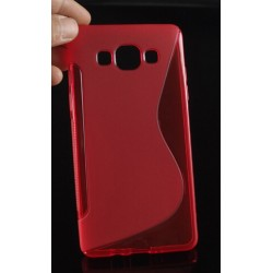 Red Silicone Protective Case Samsung Galaxy A7