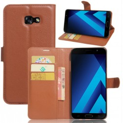 Samsung Galaxy A8 (2016) Brown Wallet Case