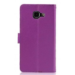 Protection Etui Portefeuille Cuir Violet Samsung Galaxy A9
