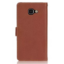 Samsung Galaxy A9 Brown Wallet Case