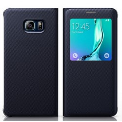 Black S-view Flip Case For Samsung Galaxy A9