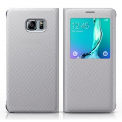 Etui Protection S-View Cover Blanc Pour Samsung Galaxy A9