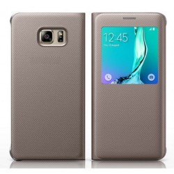 Gold S-view Flip Case For Samsung Galaxy A9