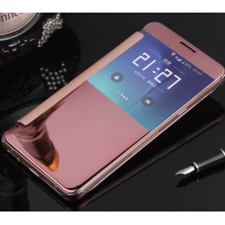 Etui Protection Led View Cover Rose Pour Samsung Galaxy A9