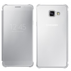 Etui Protection Led View Cover Argent Pour Samsung Galaxy A9