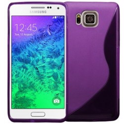 Purple Silicone Protective Case Samsung Galaxy Alpha