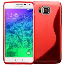 Red Silicone Protective Case Samsung Galaxy Alpha