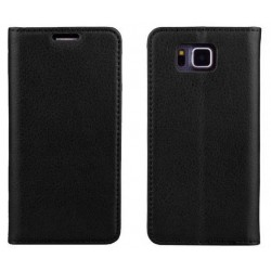 Samsung Galaxy Alpha Black Wallet Case