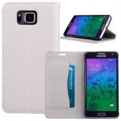 Samsung Galaxy Alpha White Wallet Case